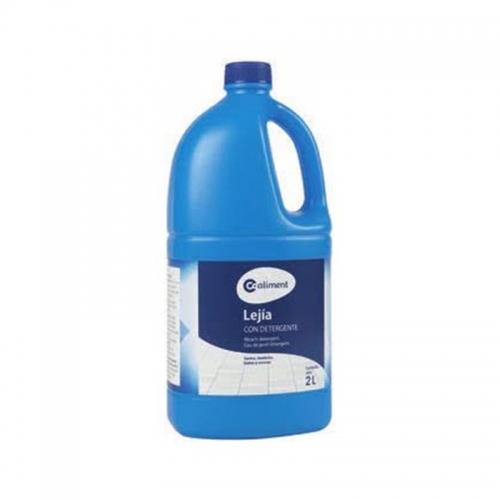 Lejía con detergente azul Coaliment 2L.