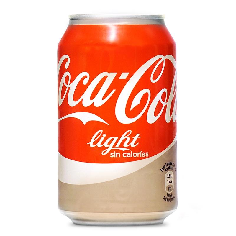 Lata de Cocacola  light