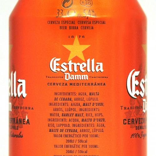 Llauna Estrella Damm