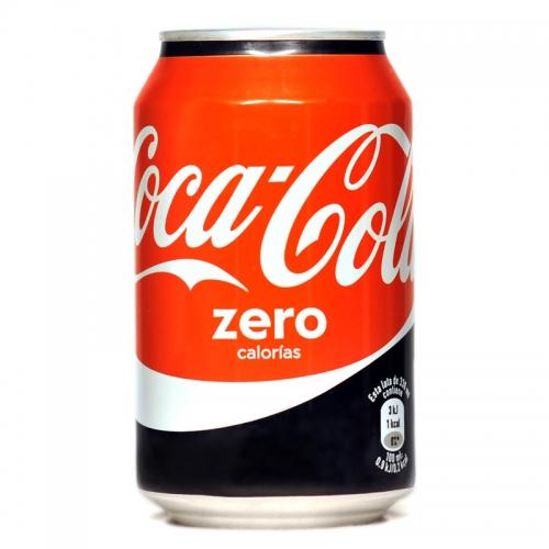 Refresco Coca-Cola zero lata 33 cl.