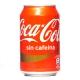 Lata de Cocacola  sin cafeina