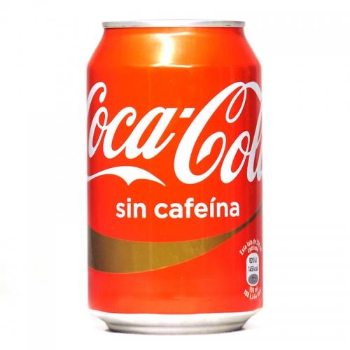 Refresco Coca-Cola sin cafeína lata 33 cl.