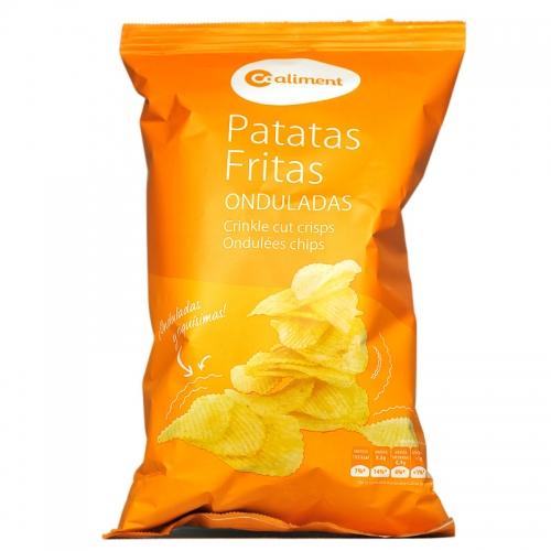 Patates xips ondulades Coaliment
