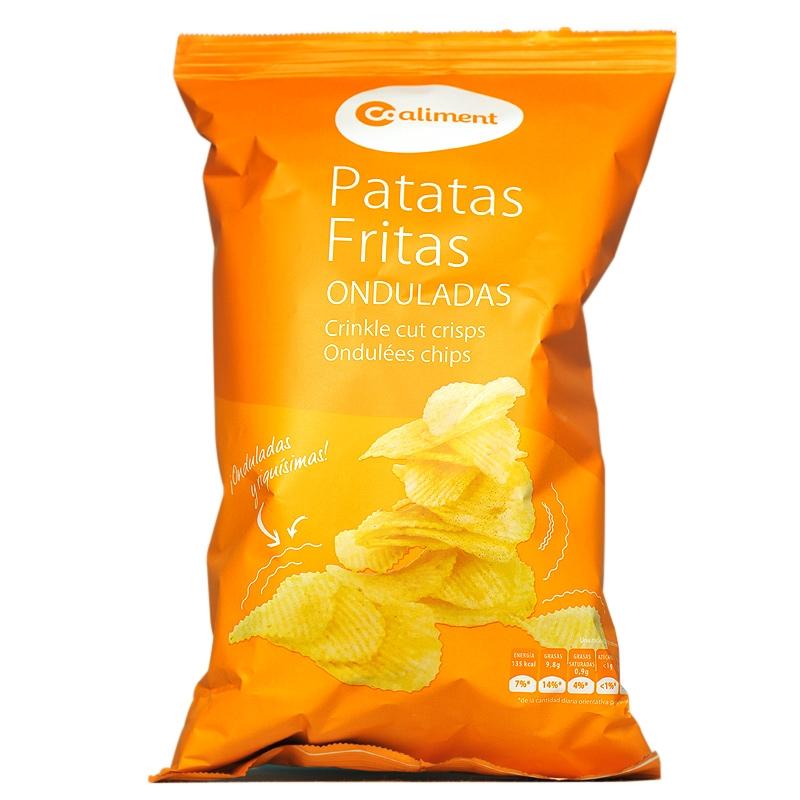 Patates xips ondulades