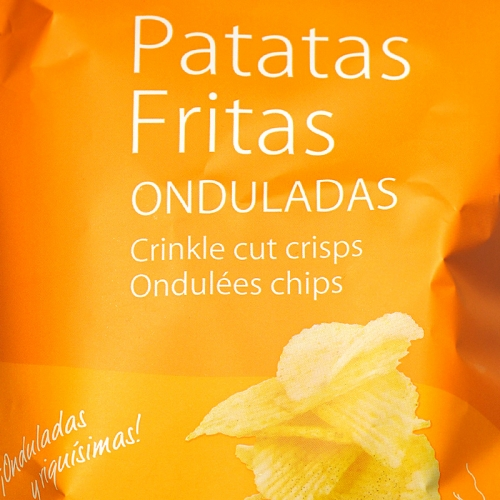 Patatas chips onduladas