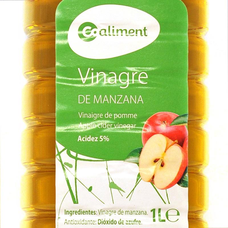 Vinagre de manzana Coaliment 1L