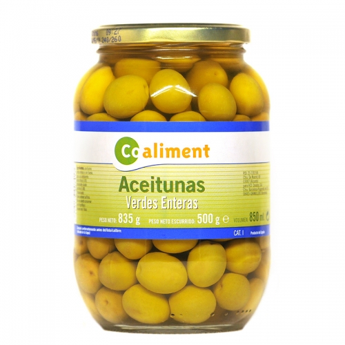 Olives verdes senceres Coaliment