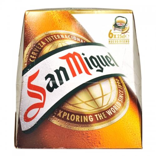 Cervesa San Miguel Botella pack 6x25 cl