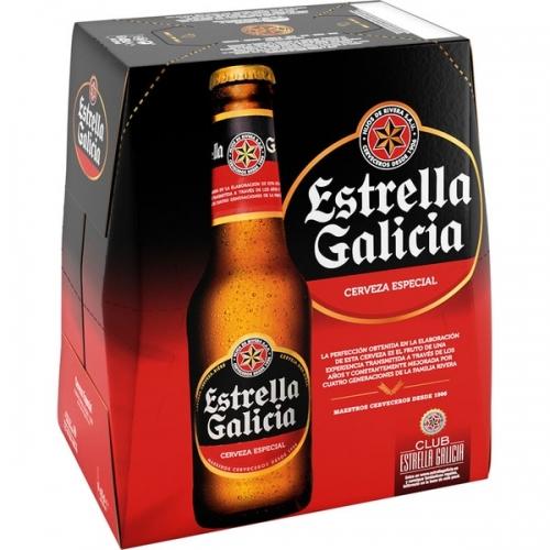 Cervesa Estrella Galicia Botella Pack 6 x 25 cl