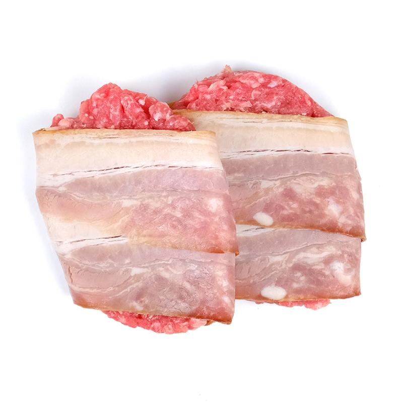 Hamburguesa de cerdo y baicon