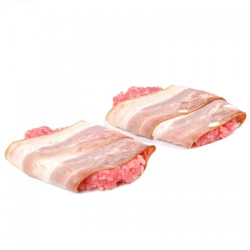 Hamburguesa de porc i bacó