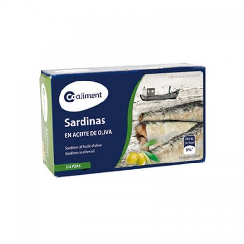 Sardinas en aceite de oliva Coaliment RR-125